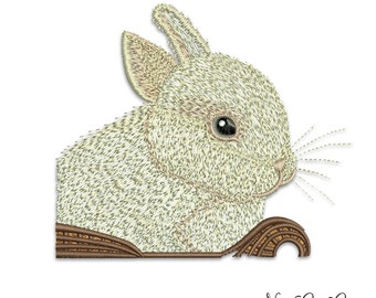 Baby rabbit embroidery - Bunny Machine Embroidery Design Instant Download - 001
