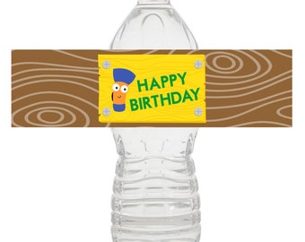 Handy Manny Water Bottle Wrapper, Handy Manny Birthday, Handy Manny Water Label, Handy Manny Party Decorations - PRINTABLE