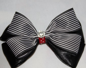 Black and White Head Bow ,for toddler and adult ,elegant head bow,New Year Bow,Womens Bows,Holiday's bow.