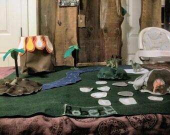 Dinosaur Felt Play Mat Pattern/Template DIY Gift