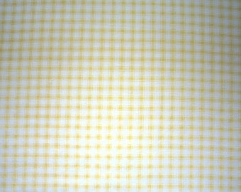 Yellow Plaid Fabric - Bright Cheery Yellow - Price Per Yard