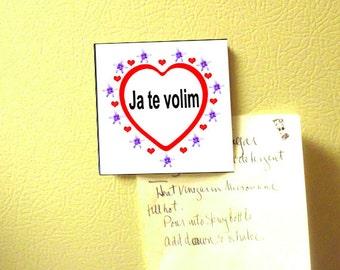 Yugoslavian I love you magnet