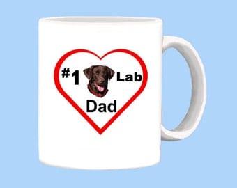Number 1 Chocolate Lab Dad Mug