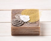 Fall Wedding Ring Box Wedding Ring Holder Ring Pillow Bearer Box with Shabby Chic Rose Rustic Barn Wooden Burlap and Lace Love Gift