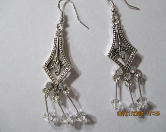 Swarovski Chandeliers with dangling swarovski clear crystals