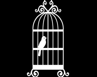 068 Bird Cage Decal