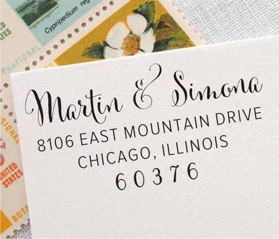 Return Address Stamp Custom Address Stamp Return By StampJoy