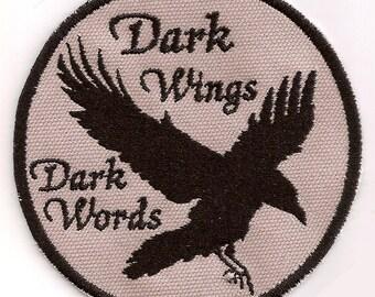 Dark Wings, Dark Words raven patch