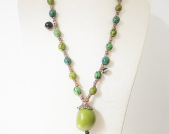 Vegetable ivory, tagua jewelry natural necklace