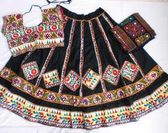 Navratri chaniya choli Designer Indian Black and Lace work Lehenga Choli