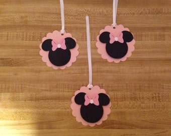 Set of 10 Minnie Mouse Tags