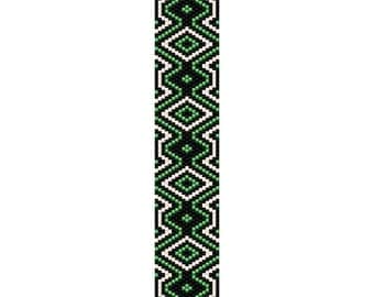 Funky Diamond Bracelet Peyote Pattern