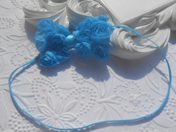Blue Bow Baby Headband, Newborn Headband,  Infant Headband,Baby Headband, Headband Baby, Baby Headband