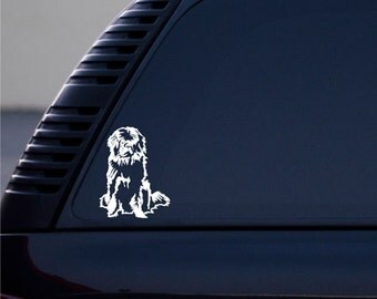 Newfoundland Dog vinyl decal small © 2013 Laced Up Decals SKU:Newfoundland Dog 33 small