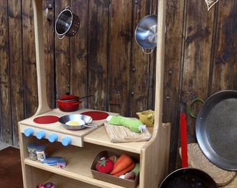 Estructura de Juego, cocina, cuineta, kitchennete made of wood, kochnische