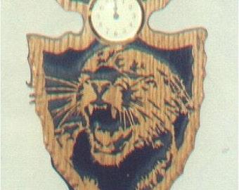 Oak Mountain Lion Arrowhead Clock