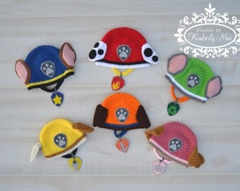 Paw Patrol Inspired Hat and Collar