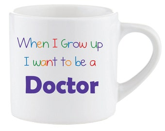 Kids Smug Mug When I Grow up I want to be a Doctor Gift Idea Childrens Present Christmas