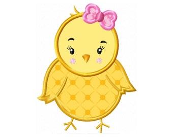 Applique Machine Embroidery DESIGN NO. 297.....Girl Chick