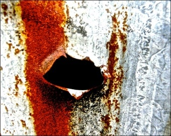 "Abstract fine art photograph ""Rust Pucker."" 16×12"" high quality giclee print."