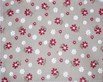 Floral Twill Fabric 54""