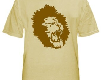 Distributed Lion Logo shirt for men, Identity T-shirt, Logo shirt, Round neck, Short sleeves, Cotton shirt, Menz shirt