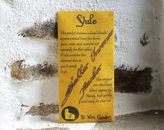 Yule incense, hand blended, loose ritual incense, winter solstice, christmas incense, pocket altar kit, travel altar tools, gift ideas