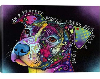 In a Perfect World By Dean Russo Canvas Print | Gallery Framed | 30% off SALE at Checkout Use Coupon Code: JUNE30A