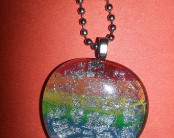 Rainbow Glass Pendents
