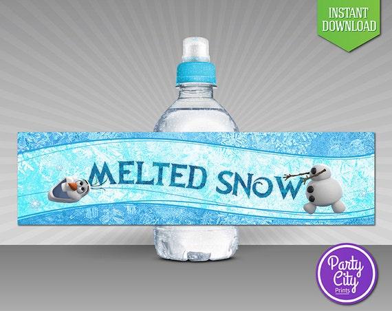 Disney Frozen Bottle Labels INSTANT DOWNLOAD by ...