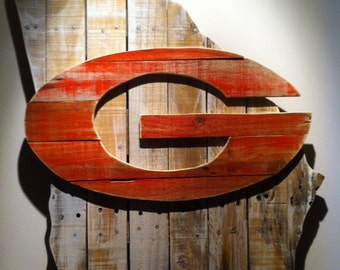 Wooden State of Georgia with UGA logo