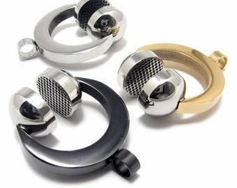cool silver gold Black Stainless Steel Earphone Pendant & Chain Necklace Rock n Roll DJ Headphone