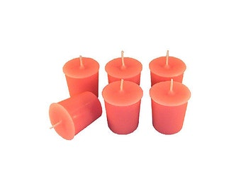 12 Pink Classic Hand-poured Unscented Votive Candles