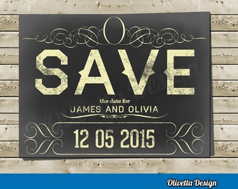 Save the Date - Wedding Customizable - Digital File - Ready to Print