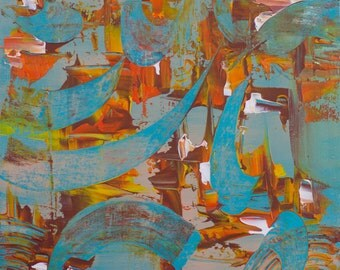 Original Contemporary modern Abstract painting by Afshin Tabei ,30x30 cm