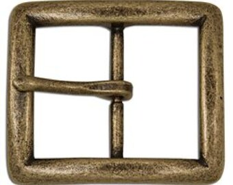 "Seaton Center Bar Buckle 1-1/2"" Antique Brass Finish 1645-09 by Tandy Leather"