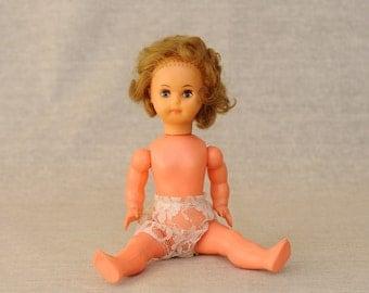 Vintage Doll Bté SGDG 300, 30 cm, Made in France, 70's