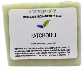 Patchouli soap - pure patchouli handmade soap with patchouli essential oil and crushed patchouli leaves