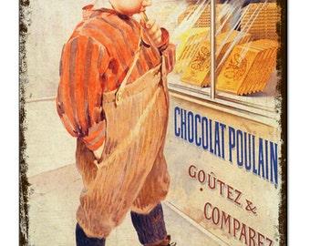 Chocolat Chocolate Vintage Metal Sign Retro Tin Plaque Advert