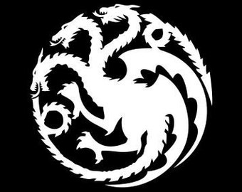 Game of Thrones decal - House Targaryen Crest Car / Window/ Bumper vinyl sticker