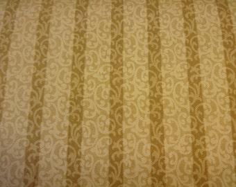 Gold & Brown Stripe w/Scrolling Fabric 399