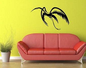 Flying Bird Vinyl Wall Decal  Wall Art Sticker Room Decor