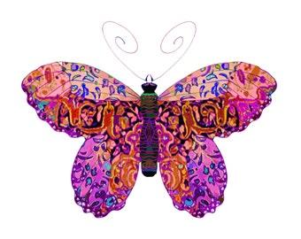 11x14 Blushing WIngs Butterfly Print