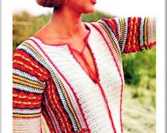 Handmade Crochet Vintage 1970s Boho Beach Maxi Dress - Made to Order