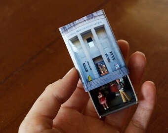 Matchbox Building: Matchbox Miniature of the National Film and Sound Archive, Canberra, Australia.
