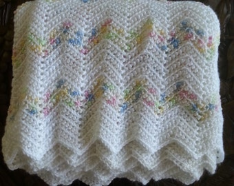 Pretty Chevron Baby Blanket