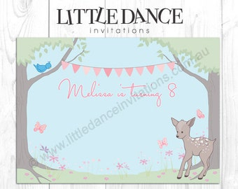 DIGITAL FILE - Baby Forest Animals – Printable Candy Buffet Backdrop (TW1102)