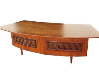 Monteverdi Young Desk Grand Executive Desk Mid Century Modern