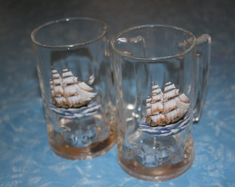 Pirate Ship Beer Glasses