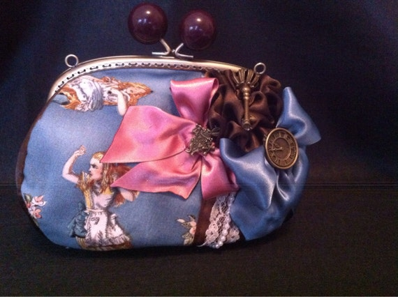 Vintage rare Alice in wonderland pouch bag